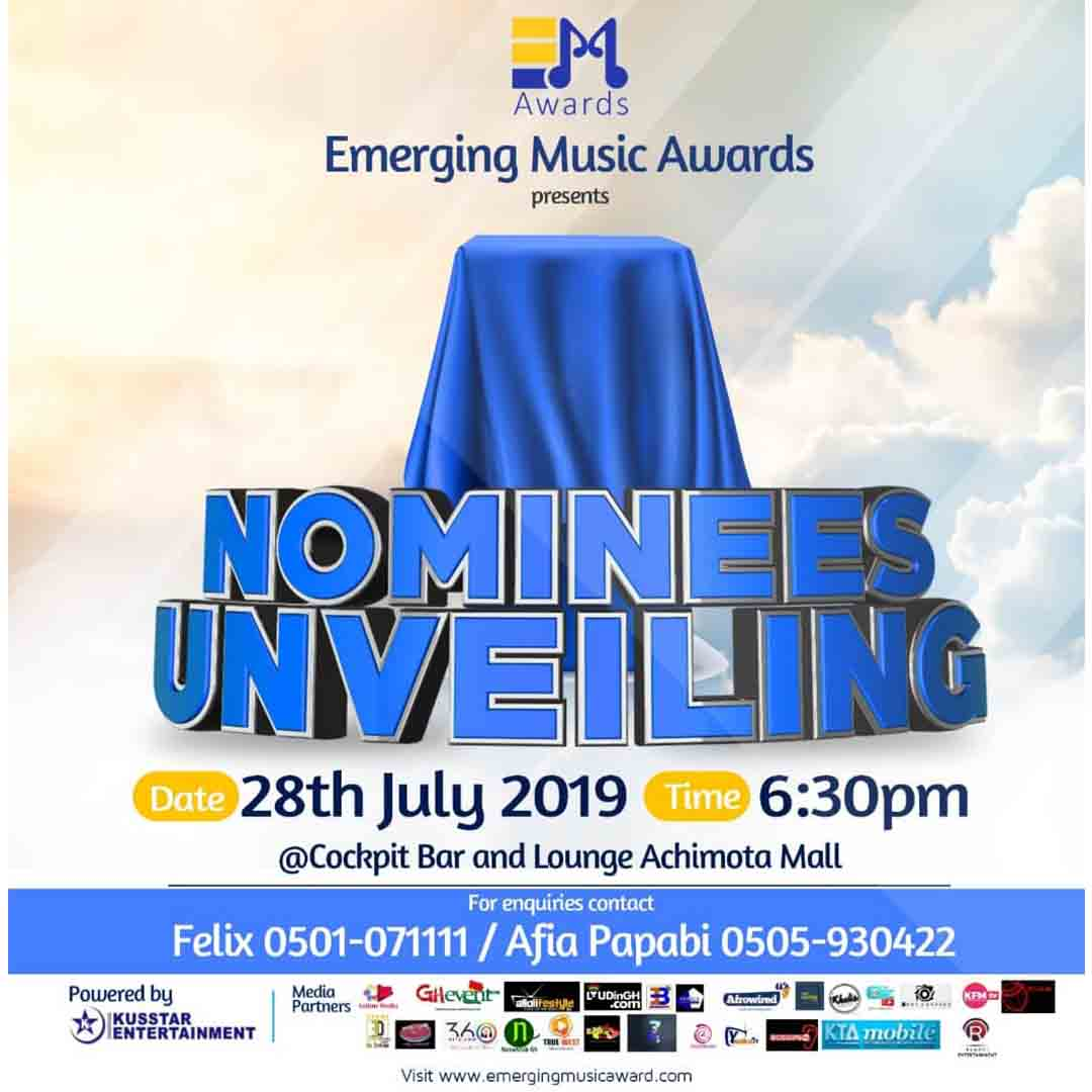 Emerging Music Awards Nominees to be unveiled on Sunday