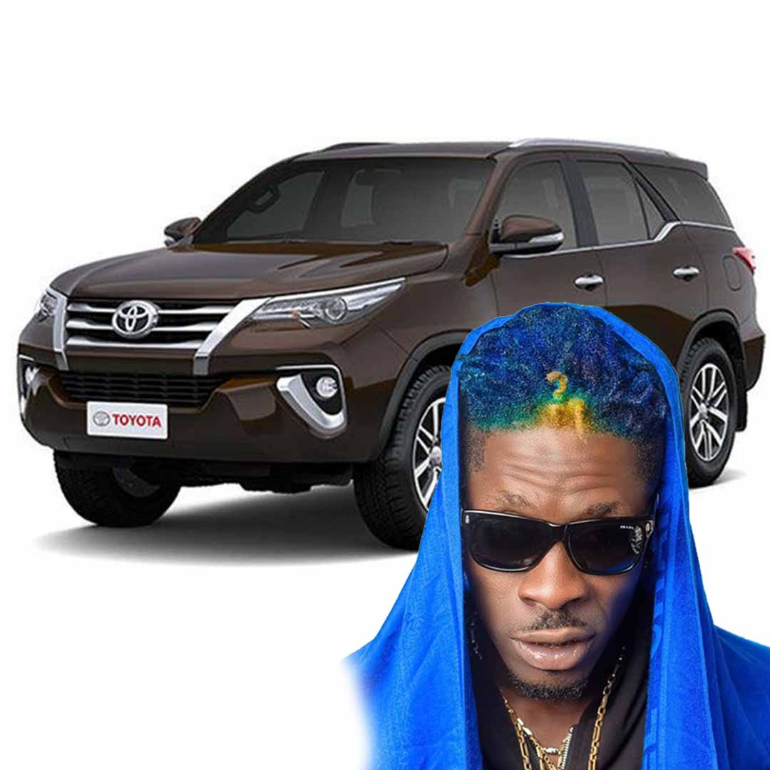 Shatta Wale gets a new car as a gift